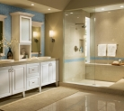 Clean White Thermofoil Kraftmaid Bathroom Cabinetry