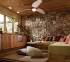 Kraftmaid Family Room in Honey Spice