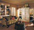 Kraftmaid Maple Cabinetry with an Biscotti with Coconut Glaze Makes this a Comfortable Room for Quiet Relaxation