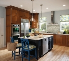 Kraftmaid Cabinetry Finished in Golden Lager and Midnight
