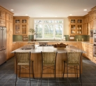 Kraftmaid Modern Style Kitchen with Cabinetry in Warm Toffee