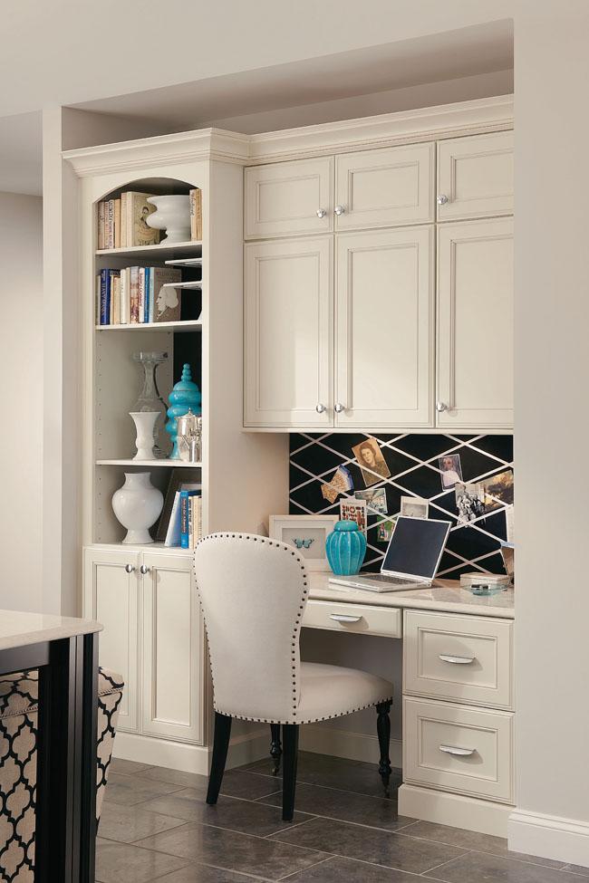 Interior design living room ideas home office design for Built in kitchen desks ideas