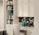 Kraftmaid Built in Desk with Bookcase and Cabinets