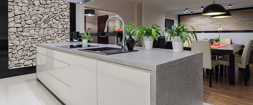 Kitchen countertops granite countertops quartz countertops for Seamless quartz countertops