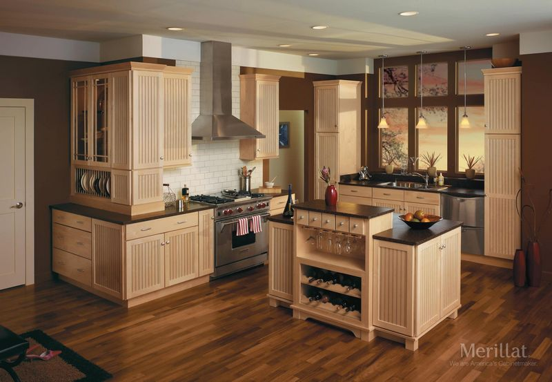 Merillat classic kitchen cabinets carolina kitchen and bath Kitchen colors with natural wood cabinets