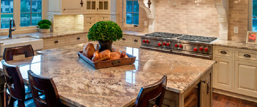 This granite countertop illustrates the unique beauty of any natural ...