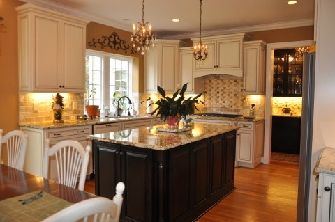 countertops kitchen island cabinets different contrast coordinating
