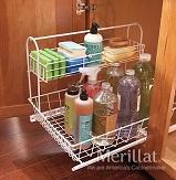 undersink, tote, storage, handy, convenient, cleaning, supplies