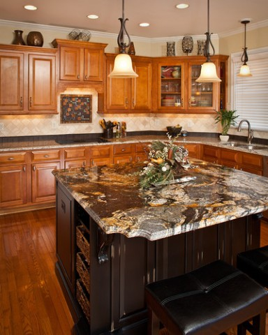 island perimeter countertops cabinets finish color styles